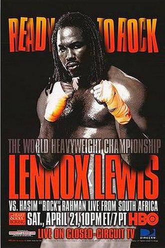 Lennox Lewis vs. Hasim Rahman - Image: Lewis vs Rahman