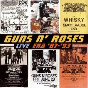 Live Era '87–'93 - Image: Live Era 87 93Guns'n'roses