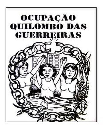 Homeless Workers' Movement - MTST poster for the Quilombo das Guerreiras Occupation.