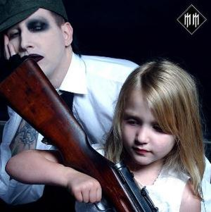 The Golden Age of Grotesque - Photograph by Gottfried Helnwein which accompanied Manson's essay to the Rock and Roll Hall of Fame and Museum. Helnwein later expressed dissatisfaction that this image was not selected as the album's cover.