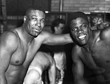 Willis and Marion Motley pictured in the Browns locker room