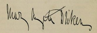 Mary Angela Dickens - Image: Mary Angela Dickens signature