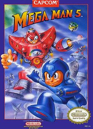 Mega Man 5 - North American cover art