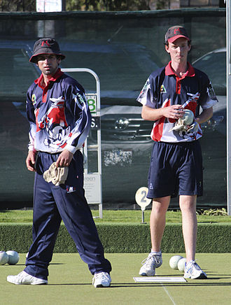 Melbourne Bowling Club - Melbourne Bowling Club and Australian representative players Russell Green Jnr and Dylan Fisher