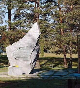UN Special (magazine) - Memorial in Ariana Park