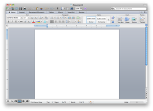 Microsoft Word - Microsoft Word 2011 running on OS X