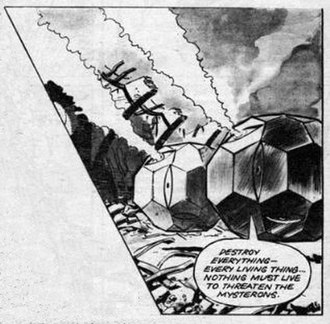 Mysteron - Two Mysterons, as depicted by illustrator Don Harley in the TV Tornado comic.