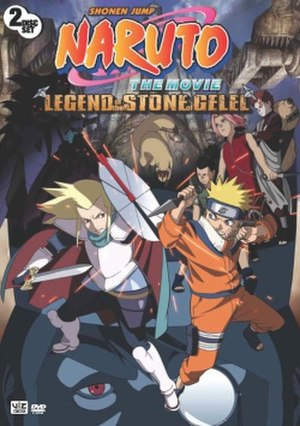 Naruto the Movie: Legend of the Stone of Gelel - American DVD cover