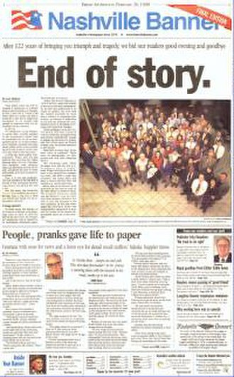 Nashville Banner - Nashville Banner, Final Edition, February 20, 1998
