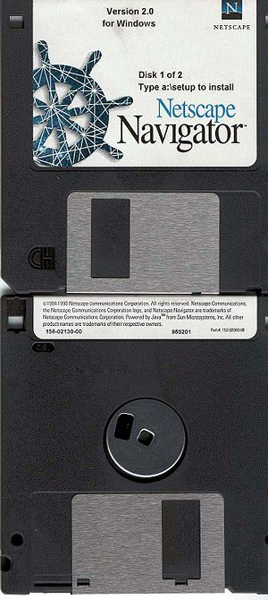 Installation disk of Netscape 2.