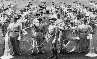 Philippine Constabulary Band - The Philippine Constabulary Band pictured at the Louisiana Purchase Exposition in 1904.
