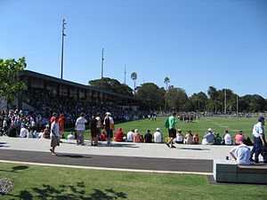 Redfern Oval - Redfern Oval, Rabbitohs vs Tigers trial game in 2009