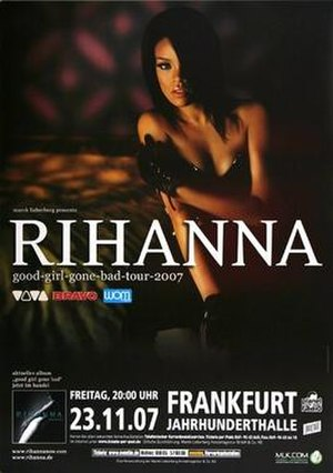 Good Girl Gone Bad Tour - Promotional poster for the tour