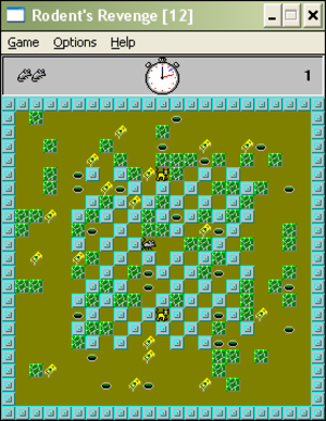 Rodent's Revenge - Image: Rodents Revenge, Screenshot
