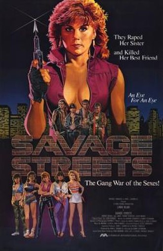 Savage Streets - Theatrical release poster