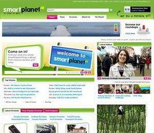 SmartPlanet -  SmartPlanet's homepage in 2008.