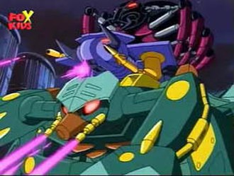 Spider-Slayer - The Spider Slayers combined in the 1990s Spider-Man animated series.