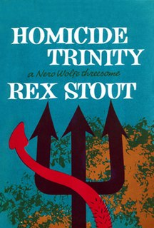 <i>Homicide Trinity</i> book by Rex Stout