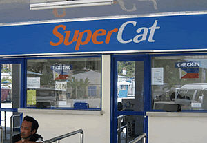 Supercat Fast Ferry Corporation - A Supercat Ticket Booth in Calapan Port