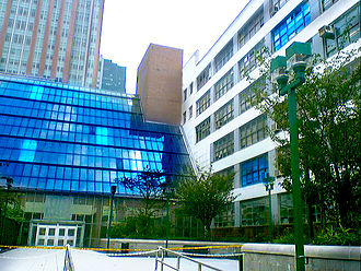 New York City College of Technology - The Atrium and Pearl Buildings at City Tech campus
