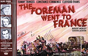 The Foreman Went to France - Original UK quad format poster