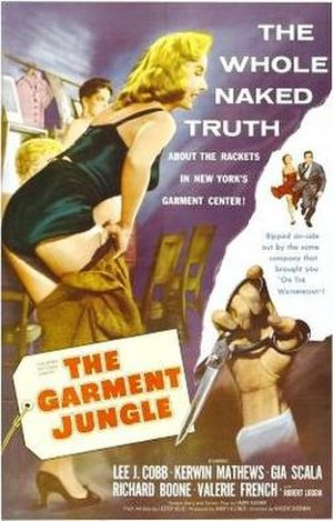 The Garment Jungle - Theatrical release poster