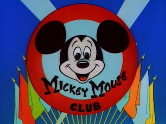 The Mickey Mouse Club - The title card used 1955–1959