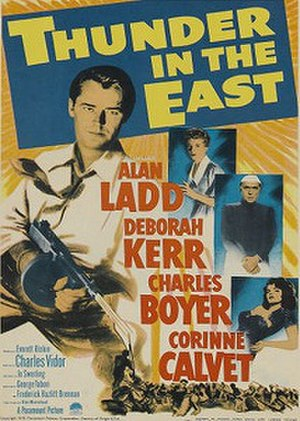 Thunder in the East (1952 film) - Theatrical poster