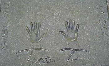 Tina Turner Rotterdam Walk of Fame handprints