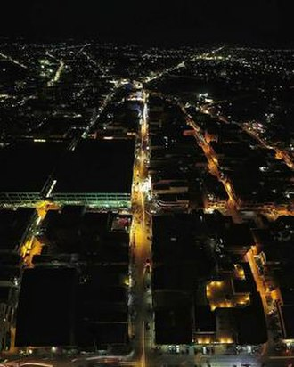 Tuguegarao - Downtown at night (foreground)