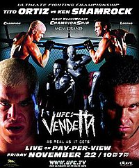A poster or logo for UFC 40: Vendetta.