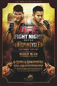 A poster or logo for UFC Fight Night: Bisping vs. Le.