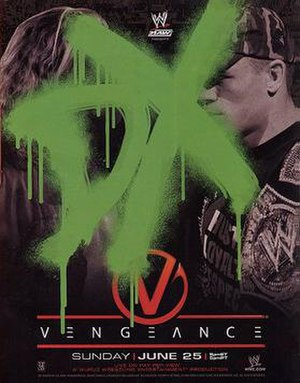 Vengeance (2006) - Promotional poster featuring Edge, John Cena, and D-Generation X logo