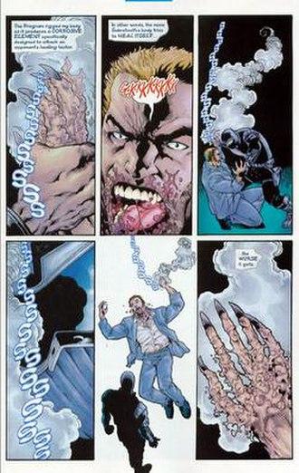 David North (comics) - Agent Zero's anti-healing factor corrosive.