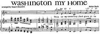 "Washington, My Home - Image: ""Washington, My Home"" sheet music"