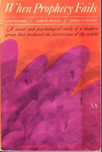 When Prophecy Fails - Book cover, 1964 edition.
