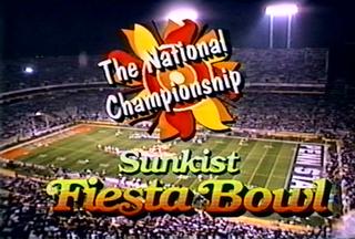 1987 Fiesta Bowl annual NCAA football game