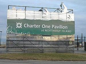 Huntington Bank Pavilion - Image: 20070110 Charter One Pavillion Sign