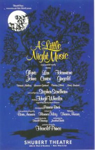 A Little Night Music - Original Broadway production poster