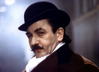 Hercule Poirot - Albert Finney playing Poirot in the 1974 film, Murder on the Orient Express