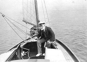 Albert Strange - On his boat Cherub III