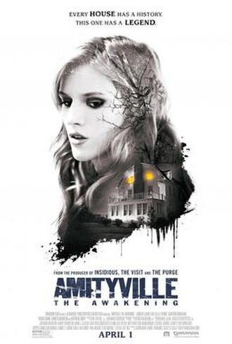 Amityville: The Awakening - Theatrical release poster  with original release date