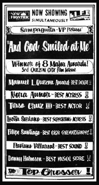 And God Smiled at Me - Promotional movie poster