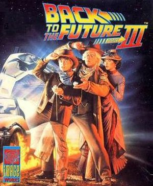 Back to the Future Part III (video game) - Box art (Spectrum/Amstrad version)