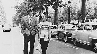 Breathless (1960 film) - Jean Seberg and Jean-Paul Belmondo in Breathless