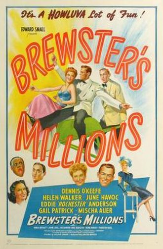 Brewster's Millions (1945 film) - Image: Brewster's Millions Film Poster