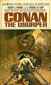 Cover of Conan the Usurper (1967). Art by Frank Frazetta.