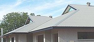 Gablet roof -  A gablet roof or Dutch gable roof