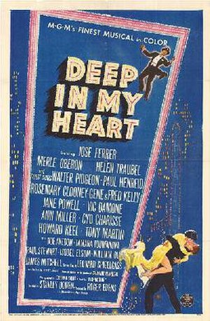 Deep in My Heart (1954 film) - Theatrical release poster