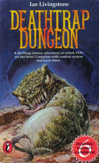 Deathtrap Dungeon - The original Puffin Books cover
